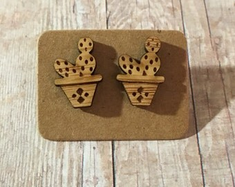 Adorable cactus studs nickel free!!!