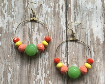 Fruit salad dangle earrings