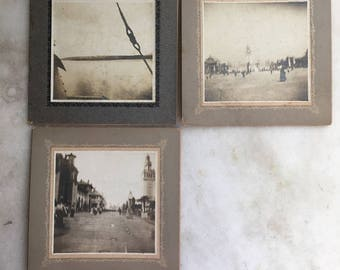 Three Antique Sepia Mounted Early Photographs / 19th century photographs / Antique landscape photographs