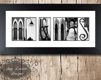MR. & MRS. Alphabet Photography Letter Photos- framed 5x12