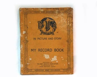 ON SALE Vintage 1930s Boy Scouts Association Book, English Boy Scouts Association Book, B P'S Family in Picture and Story