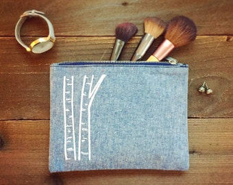limited edition screen printed toiletry cosmetic makeup bag
