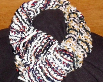 Hand knitted eternity scarf
