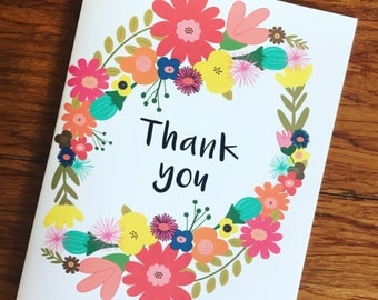 Thank you - a set pf 8 inspirational notecards and evelopes