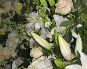 Custom reserve listing for Carol H. and no one else,  bouquet of  natural dried and preserved flowers, mostly pinks & yellows