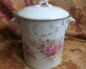 So That Unsightly Jar Of Jam Can't Be Seen Antique Rose China Jar
