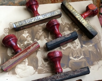 Dear Stamp Makers These Old Wooden Chippy Red Stamp Handles Are Awesome