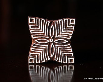 Indian Wood Stamp, Pottery Stamp, Textile Stamp, Wood Blocks, Tjaps, Printing Stamp- Square Floral