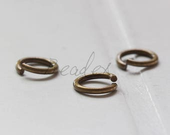 20 Pieces / Antique Brass / Jump Rings / Brass Base / Ring / 10x1.5mm  (C429JP//E467)