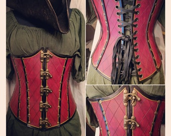 Custom Hand Dyed Hand Carved Corset
