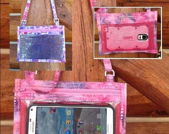 Hold The Phone! Crossbody Smartphone Case in Shades Of Purple Batik