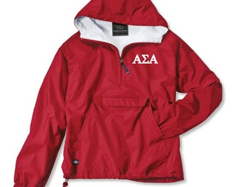 Alpha Sigma Alpha Lined Anorak (Red)