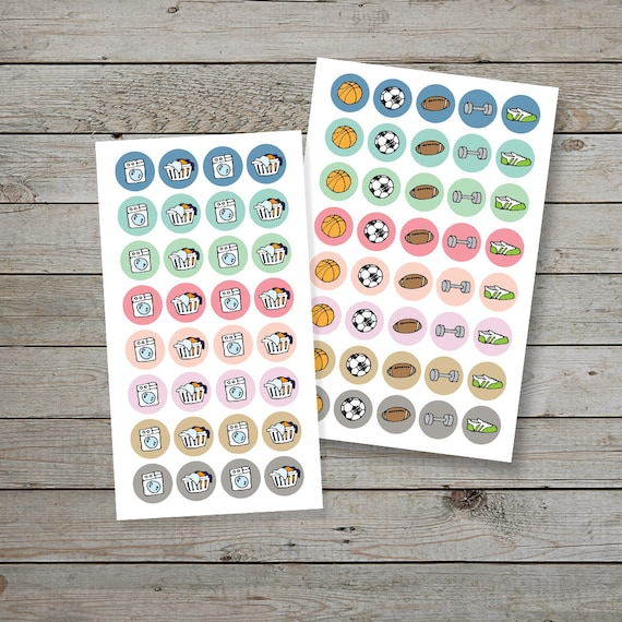 Printable Planner Stickers Planner Icon Stickers