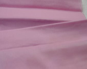 """Vintage Cotton Fabric Sheer Pink Lovely Quality 8 Yards Available, 44"""" Wide c.1960s"""