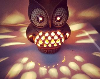 Retro Owl Lamp