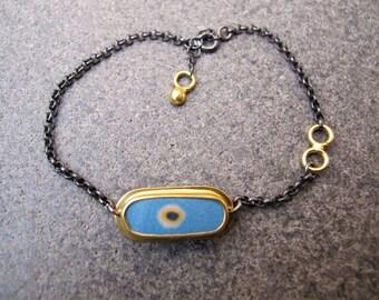 Evil Eye Sterling Silver Charm Bracelet