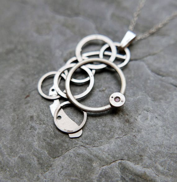"Watch Parts Pendant ""Alcyone"" Elegant Intricate Mechanical Watch Sculpture Necklace Industrial Steampunk Wearable Art Mechanical Mind"