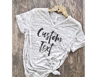 Custom Shirt Personalized Tee . Boyfriend Style Tee. Unisex Tee. XS- 2XL . Cute Shirt . Marble Shirt . Graphic Tee. Great Mother's Day Gift
