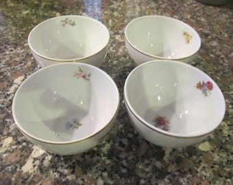 set of 4 heinrich & co. handleless cups, desert cups, gorgeous , B H Field ny, 1927