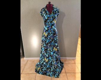 Vintage floral homemade halter dress