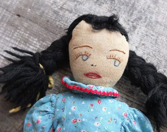 Vintage Handmade Rag Doll / Antique Cloth Doll