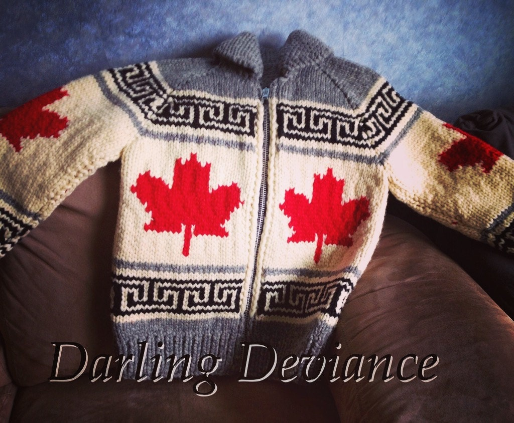 Oh Canada Maple Leaf Pattern Sweater