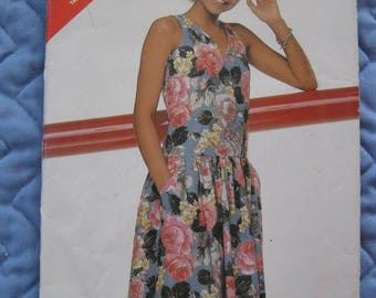 New 1980's Butterwick 5391 Size B 12-14-16 Dress See & Sew