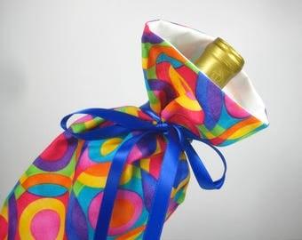Kaleidescope Color, Class Wrap Wine Gift Bag
