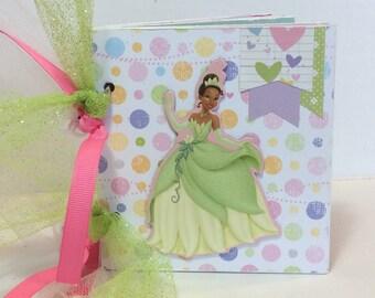 Disney Princess scrapbook premade pages chipboard scrapbook mini album Tiana princess and the frog, disneyland vacation birthday