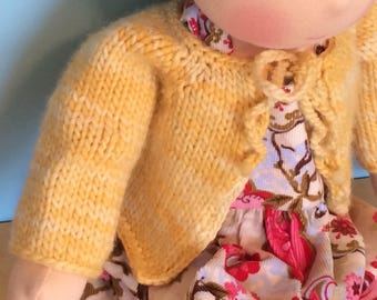 Waldorf Doll Knit Sweater for 15/16 Inch Waldorf Doll  **Pollen**