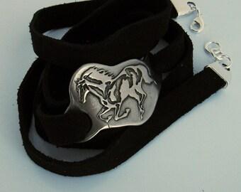 Horse Jewelry, Horse Bracelet, Running Horse, Horse Lover, Dark Silver Horse Bracelet, Wild Horse, Rustic Horse Bracelet, Pony, Equestrian