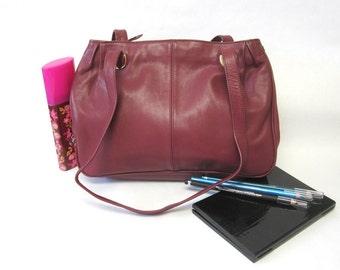 Vintage Cranberry Red Purse Burgundy Handbag