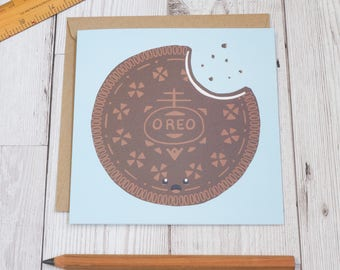 Oreo Biscuit - Oreo Cookie Greeting Card