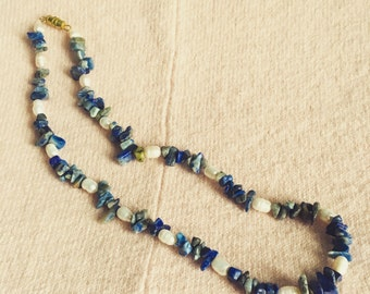 Blue Rocks and Freshwater Pearls necklace