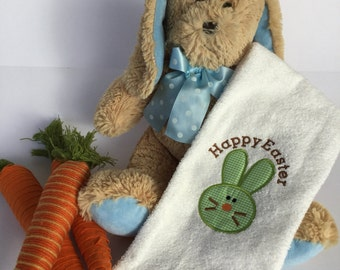 Easter Bunny Embroidered Towel