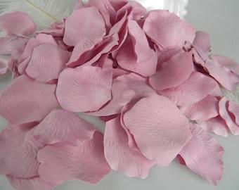 1500 Dusty Rose Pink Petals / BULK Artificial Rose Petals /  Wedding Ceremony /  Shower Its a Girl / Flower Girl Basket Tossing Petals