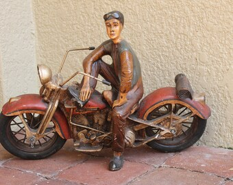 VTG Harley Davidson Reproduction Statue