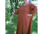 Extended size Linen Medieval Dress/Tunic.