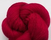 Carmine Red Silk Cashmere Fingering Weight Recycled Yarn, SCH00064