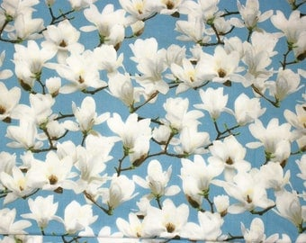 Quilting Fabric, By The Yard Fabric, Flower Fabric, Andover Fabric, White Flower Fabric, Sewing Crafting Fabric, Apparel Fabric, Springtime