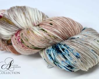 Hand Dyed Superwash Merino Wool and Nylon yarn - Fingering sock weight - Hot Toddy