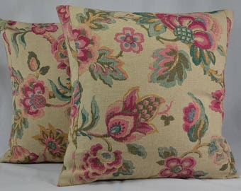 "Vintage Pillow Cover Throw Pillow Home Decor Pillow Decorative Pillow Linen Pillow Cover - 16"" Pillow Cover - PC17"