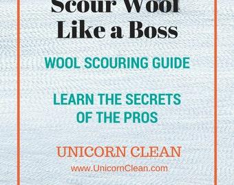 Scour Like A Boss - How to wash wool fiber using Unicorn Power Scour / Unicorn Clean - alpaca - wool- spin yarn - raw wool - art yarn - batt