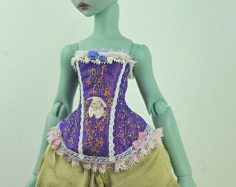 Bunny Kisses BJD Art Line Corset for Cerisedolls Cartoon MSD Doll