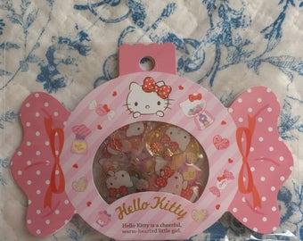 NEW 20 drop stciker flakes pack Sanrio Hello Kitty