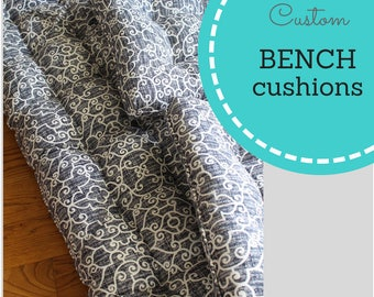 Custom Cushions- Bench Cushions- Window Seat Cushions- Box Cushions- Deck Cushions- Patio Cushions- Chair Cushions- Swing Cushions
