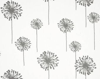Premier Print Grey Dandelion Cafe Curtains Kitchen Cafe Curtains Grey Cafe Curtain 20x22