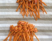 Reserved for Bambi Vintage Cowboy Hats And Cowboy Boots Cupcake Picks Cake Decoration 70 Pieces