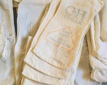 Old Vintage Cotton Lot of 44 Salt and Sugar Sacks