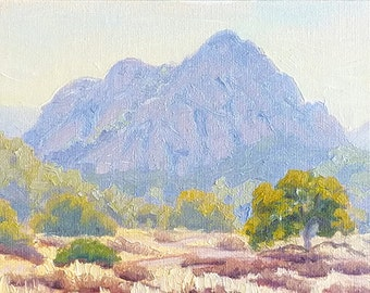 Small Plein Air Oil Painting created at Malibu Creek, California
